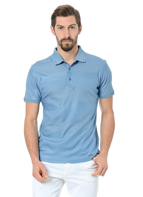 Daffari Polo Yaka Tişört Mavi